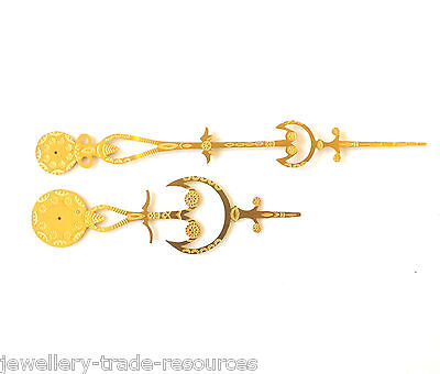 BRASS CLOCK HANDS  REPRODUCTION 18th CENTURY LONG CASE SPARE PARTS GRANDFATHER