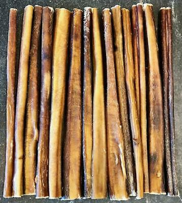 10 Pieces - 12 inch USA MADE Beef Bully STICKS Dog Treat Chew NATURAL True Chews
