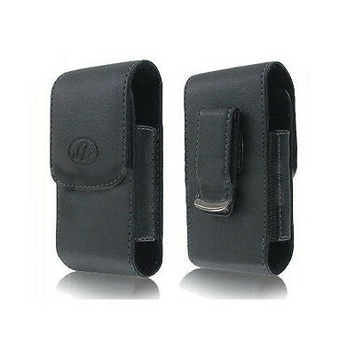 Vertical Premium Quality Leather Pouch Case Cover Clip - See compatibility list