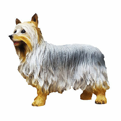 Silky Terrier Figurine Hand Painted Collectible Statue