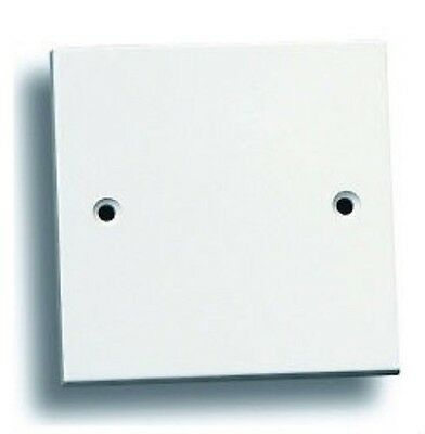 Square Blank Plate Faceplate Switch/Socket Cover Single 1 Gang White with Screws