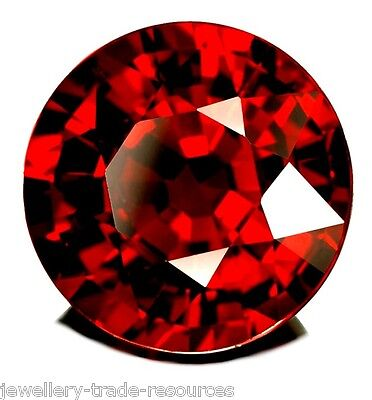2mm ROUND NATURAL RED THAI GARNET GEM GEMSTONE