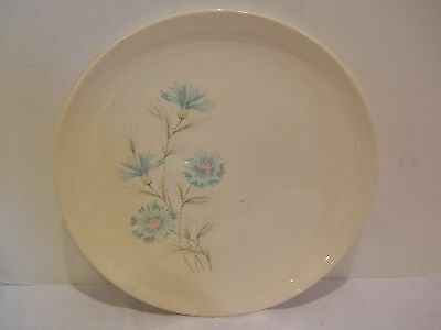 10 Taylor Smith & Taylor Boutonniere Ever Yours Dinner Plates Blue Flower RETRO