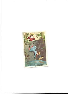 Late 1800's Lautz Bros. & Co. Pure and Healthy Soaps Trade Card 3' x 4 1/2""
