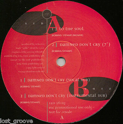 """REBORN To The Soul / Damned Don't Cry PROMO 12"""" 1994 NM DUB TRIP HOP"""