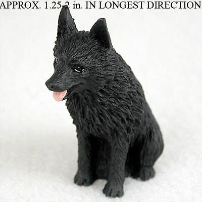 Schipperke Mini Resin Hand Painted Dog Figurine