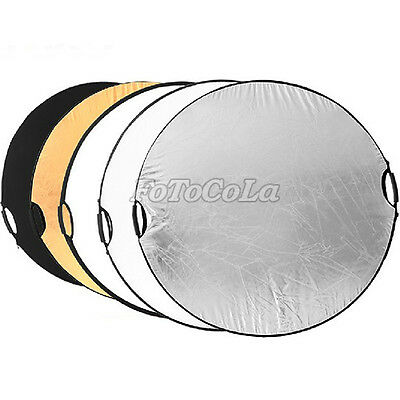 """5in1 43"""" 110cm handheld multi collapsible photograph studio light reflector Disc"""