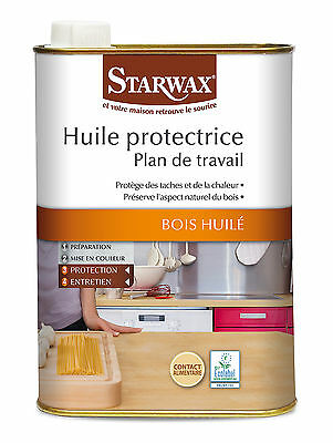 STARWAX HUILE PROTECTRICE PLAN DE TRAVAIL 500 ML contact alimentaire ref 987