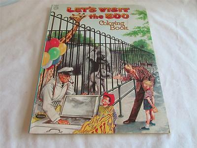 Vintage 1958 Whitman Coloring Book Let's Visit the Zoo T13