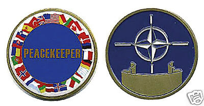 Nato All Nations Peacekeeper Military Challenge Coin