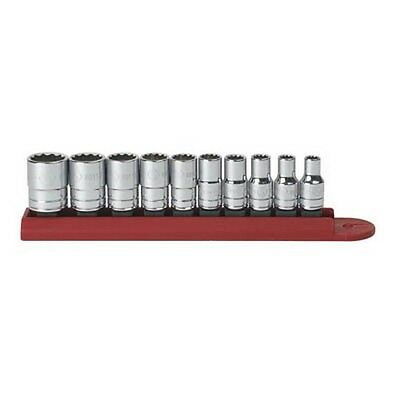 """Gearwrench 80307D 10 piece 1/4"""" Drive 12 point SAE Socket Set"""