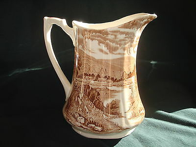 ALFRED MEAKIN CHINA PITCHER TINTERN PATTERN MADE IN ENGLAND VINTAGE