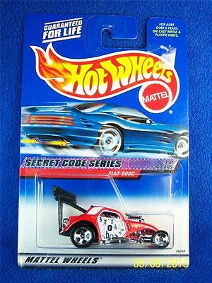 HOT WHEELS 2000 FIAT 500C SECRET CODE SERIES #45
