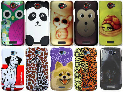 For HTC One S Animal Cartoon Colorful Rubberized Hard Snap On Cover Cases