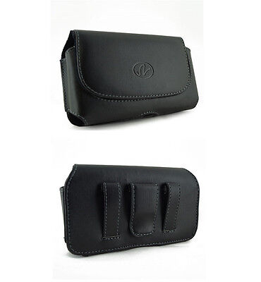 New Premium Leather Cover Carry Case Pouch Side Clip for Verizon Wireless Phones