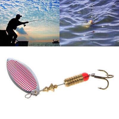 New 1pc 6g Fishing Dish Lures Treble Hook Spinner Paillette Bait
