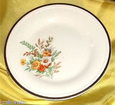 VTG 1939 Edwin M Knowls Floral Spray Bread Butter Plate