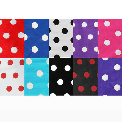 Polka Dot Polycotton Fabric 20mm - 25mm Spotted Material Craft 115cm Wide