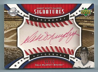 DALE MURPHY 2007 SWEET SPOT CLASSIC SIGNATURES RED INK AUTOGRAPH AUTO /15