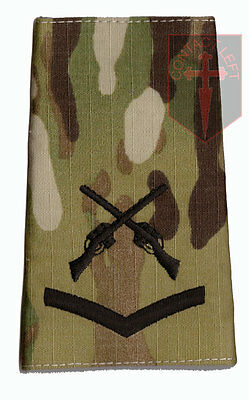 Pair Black - MULTICAM MTP SAA L/CPL Rank Slides Lance Corporal (Skill At Arms