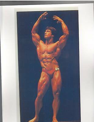 Frank Zane Mr America Bodybuilding Muscle Color Photo
