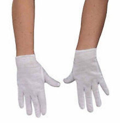 Child White Cotton Gloves Costume Accessory Theatrical Halloween Wrist Length