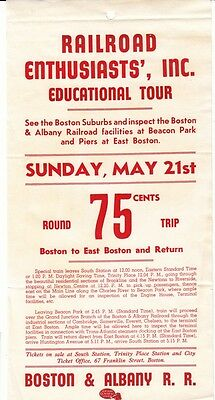 [36793R] Undated Flyer Railroad Enthusiasts', Inc. Educational Tour In Boston