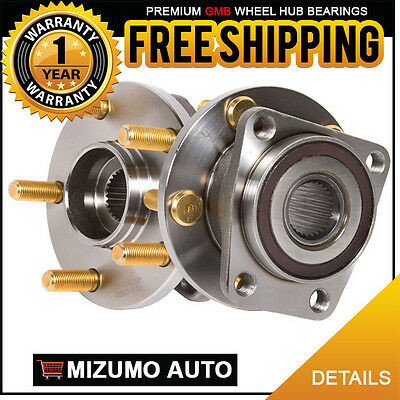 2 New Front Left and Right Wheel Hub Bearing Assembly Pair w/o ABS GMB 799-0299