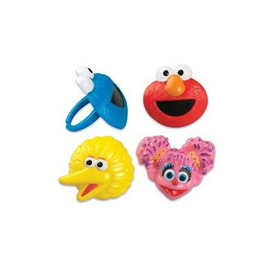 Sesame Street Pack Of 12 Party Supplies Cupcake Cake Rings Decorations