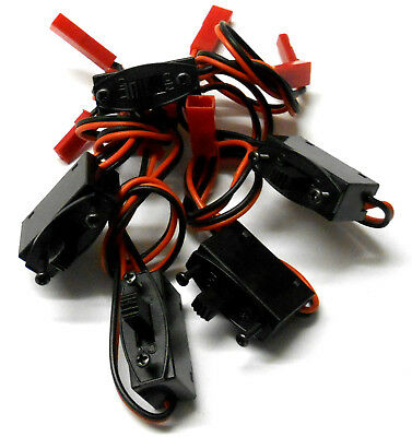 C6006 RC Model Receiver On Off Battery Switch for JST / BEC Plug Male Female x 5