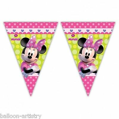 2.3m Disney Minnie Mouse Bow-Tique Pink Flag Pennant Banner Decoration