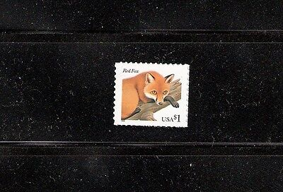 2002 #3036a $1.00 Red Fox Mint Single Stamp