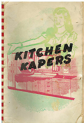 FLORENCE SC ANTIQUE c1950 KITCHEN KAPERS COOK BOOK *LOCAL ADS *COMMUNITY RECIPES