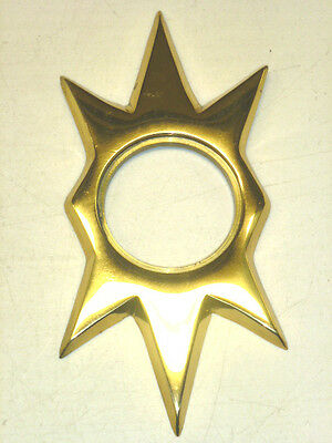 TRIANGLE Co. 100 STARBURST DOOR ESCUTCHEON, KWIKSET, POLISHED BRASS CAST