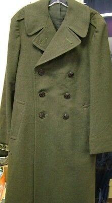 1942-1943 Wwii Us Marine Corps Long Wool Jacket Trench Coat