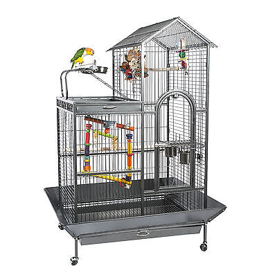 Liberta Angel African Grey Amazon Large Play Top Parrot Cage Antique