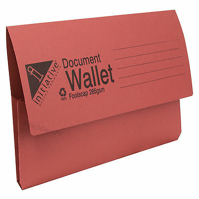 30 x 285gsm Foolscap Premium Document Wallets A4 Paper Storage Files Folders