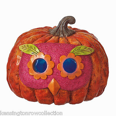 Halloween Decorations Lighted Pumpkin With Owl Mask Free Shipping