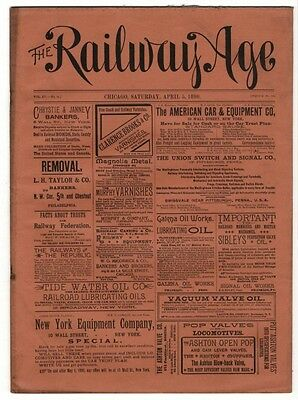 "[36955R] April 5, 1890 Issue Of ""the Railway Age"" Newspaper"