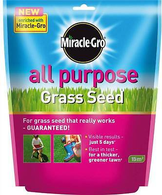 MIRACLE-GRO ALL PURPOSE GARDEN LAWN GRASS SEED FOOD FEED 450g