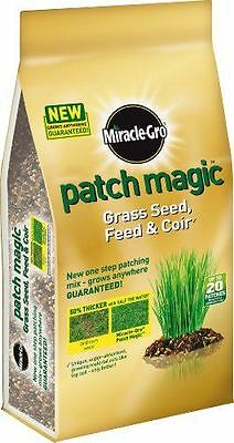 MIRACLE-GRO PATCH MAGIC THICKER GRASS SEED FEED FOOD 1.5kg