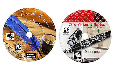 Card Verses and Quotes Vol 1-3 on DVD + Everything For Card Making Arts & Crafts