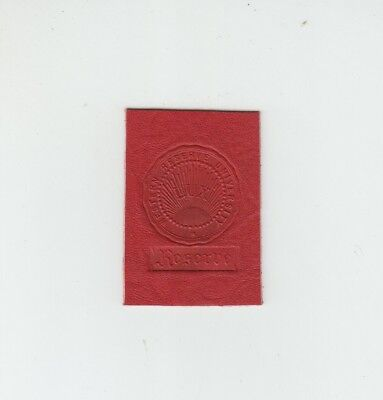 [37048] Old Tobacco Leather Western Reserve University Seal