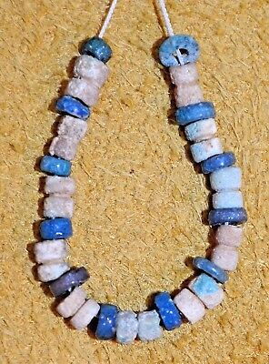 Ancient Excavated Egyptian Faience Ceramic Glass Dig Mummy Beads, African Trade