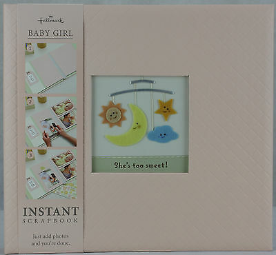 Hallmark 12X12 Soft & Sweet Baby Girl Instant Scrapbook Embellish Pages Stickers