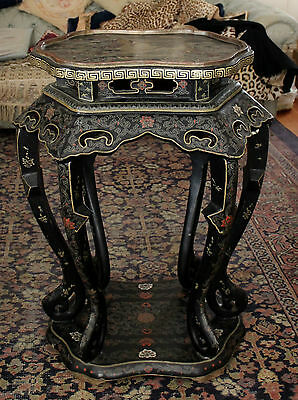 Fine 19th Century Large Chinese Lacquer Stand