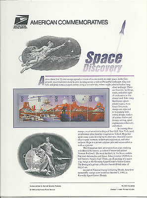#3238-3242  SPACE DISCOVERY, SCIENCE FICTION  1998 COMMEMORATIVE PANEL