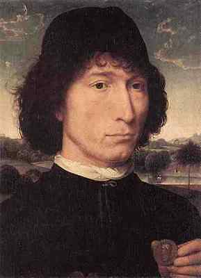 Memling Hans Portrait Of A Man With A Roman Coin 1480 Or Later 5 A3 Box Canvas