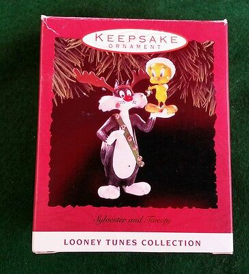 Hallmark Keepsake 1993 Christmas Ornament Looney Tunes SYLVESTER & TWEETY bird
