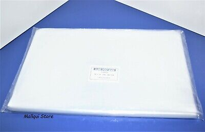 100 CLEAR 14 x 18 POLY BAGS 1 MIL PLASTIC FLAT OPEN TOP